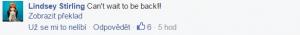 Jedná se o komentář k příspěvku, který upozorňuje na koncert v Bratislavě
